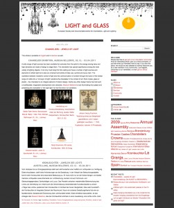 LIGHT and GLASS - European Society and Documentationcentre for Chandeliers, Light and Lighting - www.lightandglass.eu
